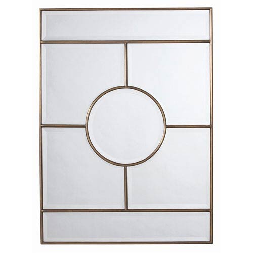 Arteriors Home Bronsan Vintage Brass Plain Mirror