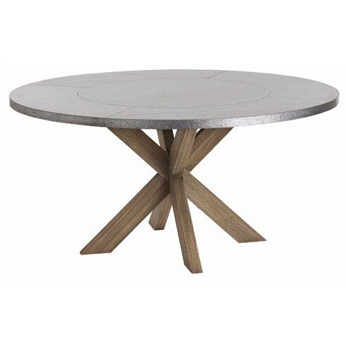 Halton Metal Clad Wood Dining Table