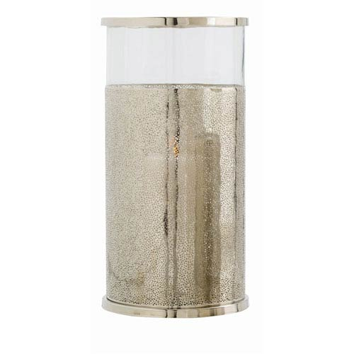 Arteriors Home Bombay Polished Nickel Large Hurricane Candle