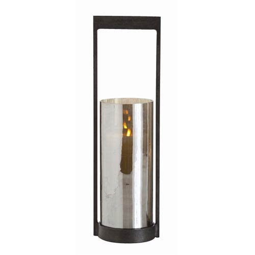 Arteriors Home Egan Natural Iron Small Hurricane Candle