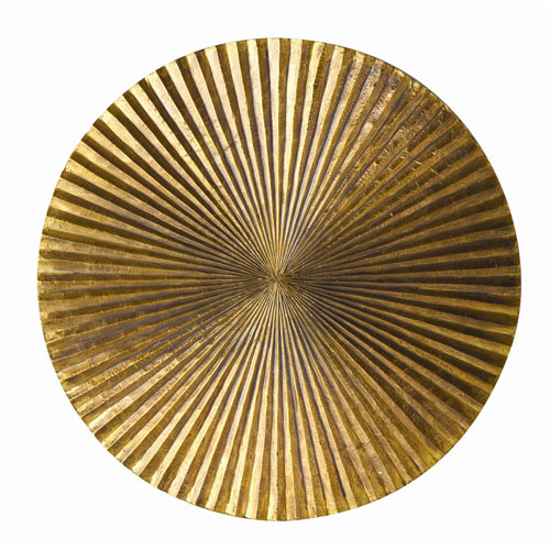 Arteriors Home Apollo Metallic Gold Small Wall Plaque