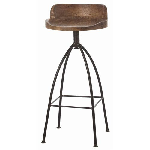 Hinkley Sandblast Antique Wax Barstool