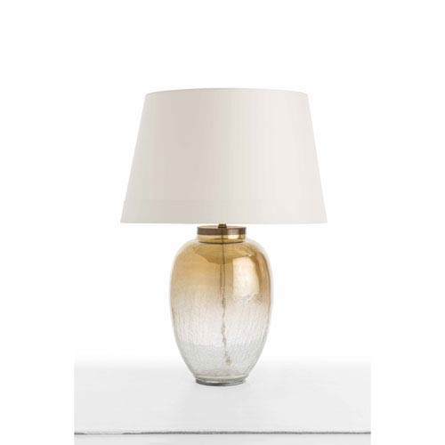 Diane Brown One-Light Table Lamp with Ivory Shade