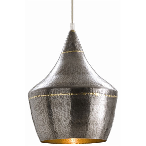 Arteriors Home Mason Dark Natural Iron One Light Small Hammered Iron Pendant