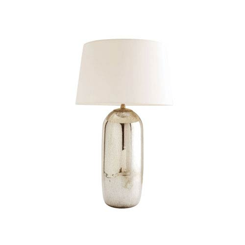Anderson Antique Mercury One Light Table Lamp with Off White Linen Shade