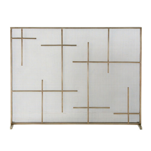 Caleb Antique Brass 40-Inch Fire Screen