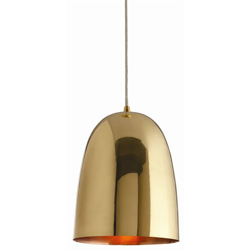 Arteriors Home Savoy Polished Brass One Light Large Pendant
