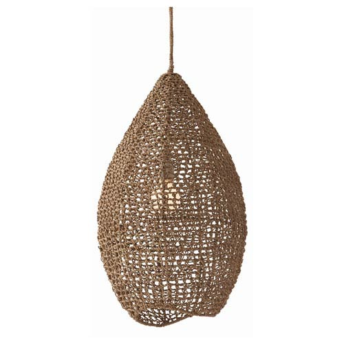 Evers Natural One Light Ceiling Pendant with Teardrop Shade