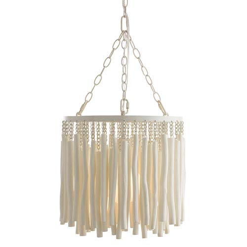 Tilda Whitewashed Wood One-Light Pendant