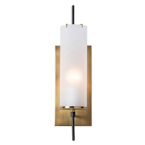 Stefan Frosted One-Light Electrified Wall Sconce