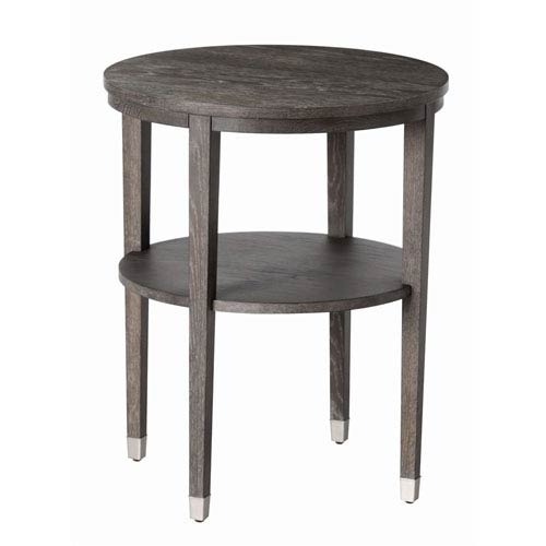 Gentry Gray Limed Oak Round Side Table