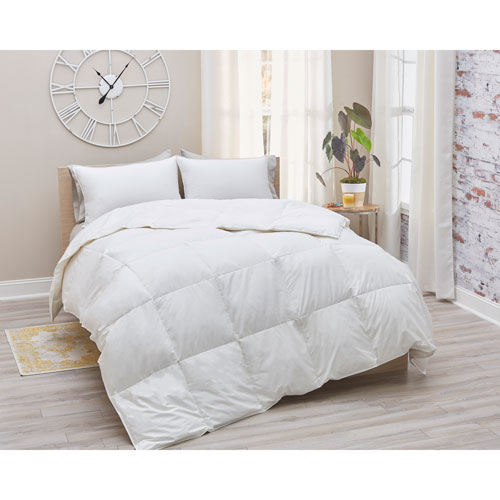 700 Fill Power White Duck Twin Down Cotton Sateen Comforter All Season Weight