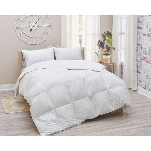 700 Fill Power White Duck Twin Down Cotton Sateen Comforter Summer Weight