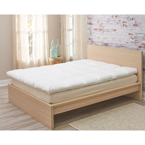 Down Alternative Full/Queen Fiber Bed Mattress Topper