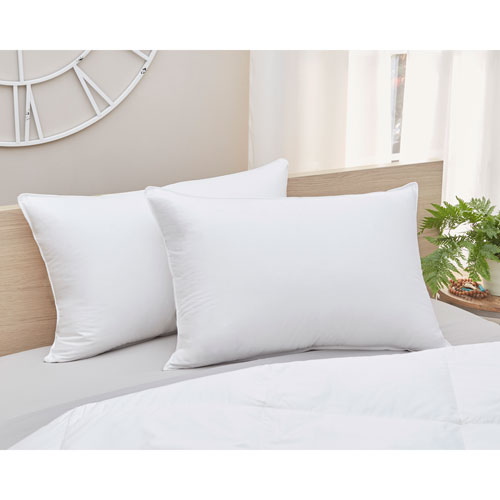 700 Fill Power White Medium Standard Goose Down Cotton Pillow