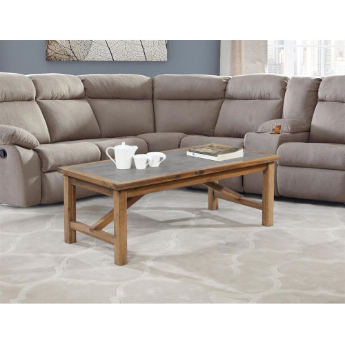 Charlotte Rustic Brown Acacia Coffee Table