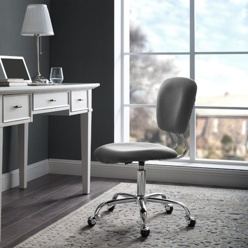 Sebastian Chrome 17-Inch Office Chair