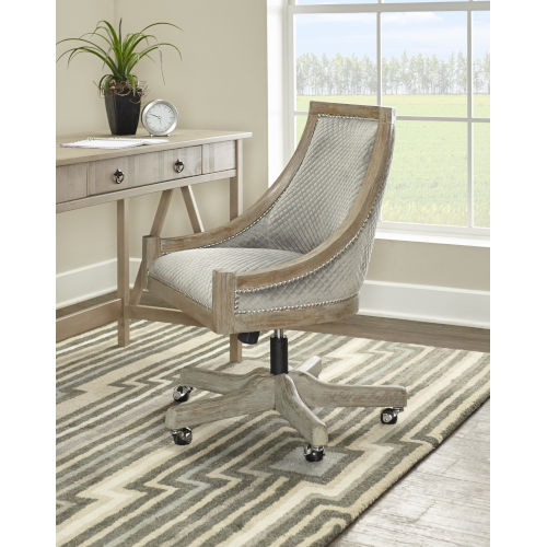Aurora Gray Wash Quilted Office Chair