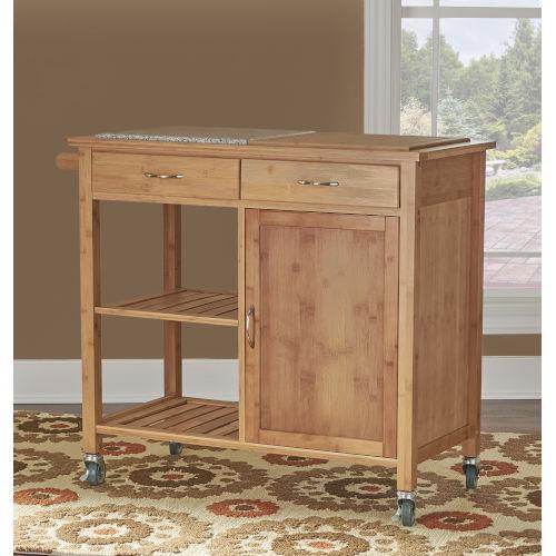Christopher Bamboo Kitchen Cart