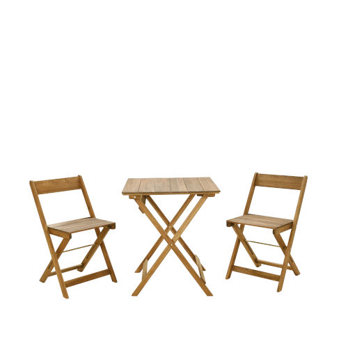Samuel Brown Oil Three Piece Square Table Set