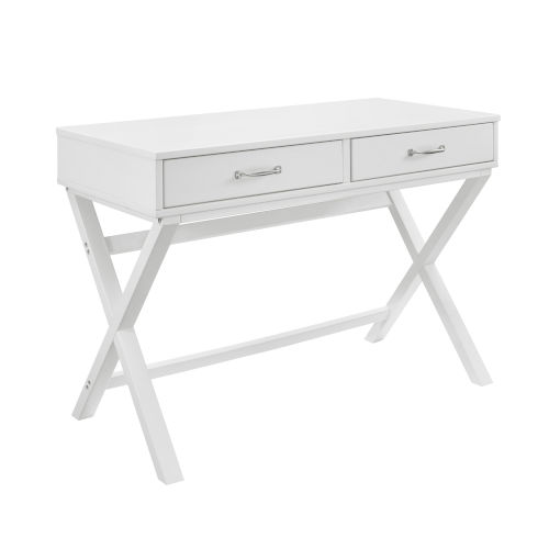 Pamela White Two Drawer Desk