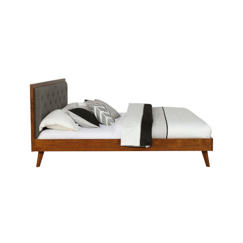 Noah Walnut Platform King Bed