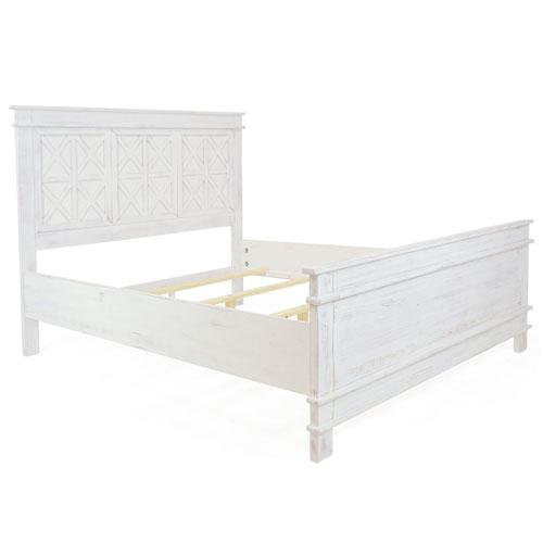 Bianca Rustic White Queen Bed