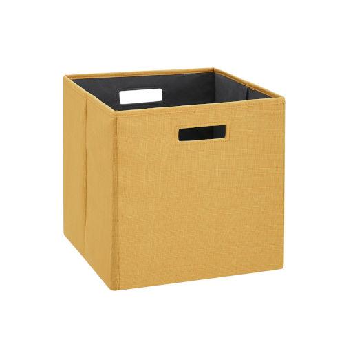 Liam Yellow Storage Bin, Pack of 2