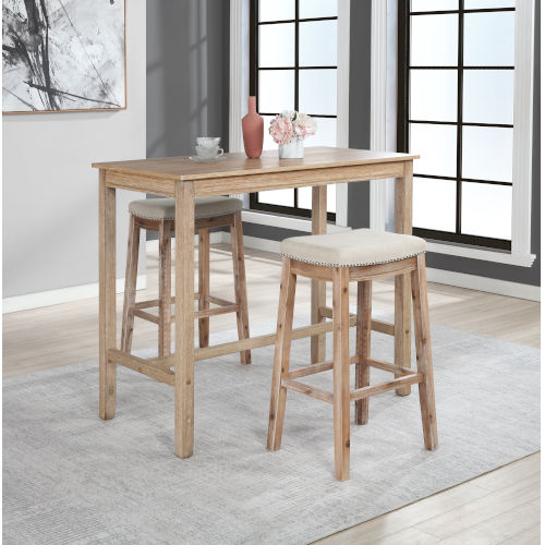 Ian Distressed Brown 42-Inch Bar Height Pub Table