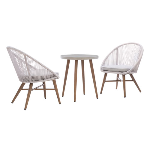 Townsend Rustic Gray Bistro Set, 3 Piece