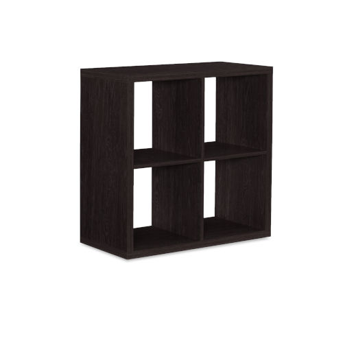 Ellis Espresso Four Cubby Storage Cabinet