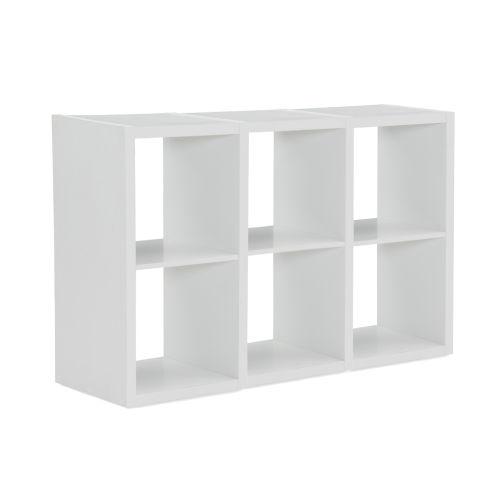Ellis White Six Cubby Storage Cabinet