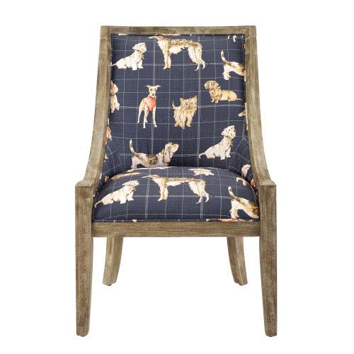 Bracken Navy Brown 38-Inch Chair