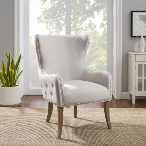 Salem Rustic Gray and Natural Chair