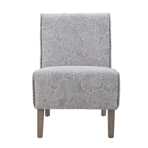Lilah Rustic Gray Upholstered Slipper Chair