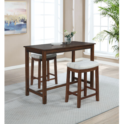 Noah Rustic Brown 36-Inch Counter Height Pub Table