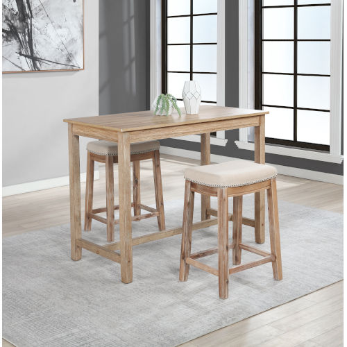 Ian Distressed Brown 36-Inch Counter Height Pub Table