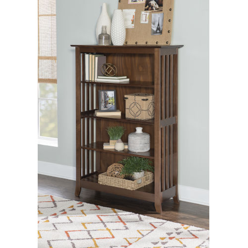 Reese Cappuccino Double Bookcase