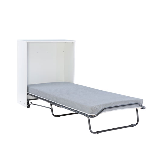 Dewitt Pewter Folding Rollaway Bed with Storage Cabinet