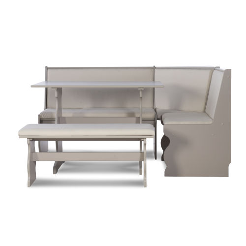 Charlotte Grey 66-Inch Nook Table Set