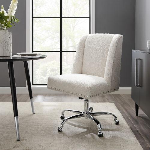 James Chrome Upholstered Swivel Office Chair