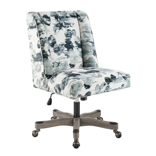 Draper Blue and White Office Chair
