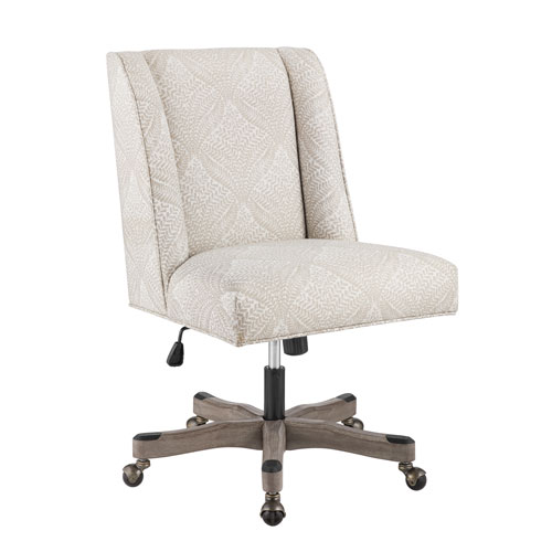 Draper Beige Fern and Antique Gray Office Chair