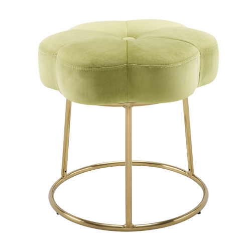 Peggy Gold Green 18-Inch Vanity Stool