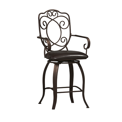 Brighton Hill Crested Powder Coating 24-Inch Counter Stool