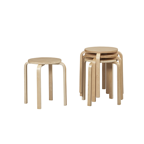 Brighton Hill Bentwood Natural 17 Inch Stool
