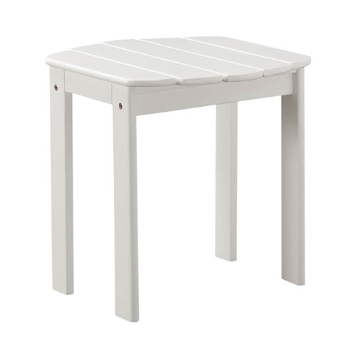Brighton Hill White Outdoor End Table