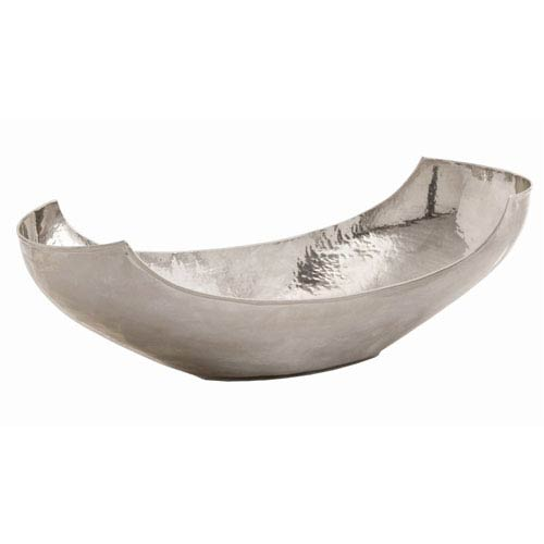 Swain Polished Nickel Large Hammered Bowl