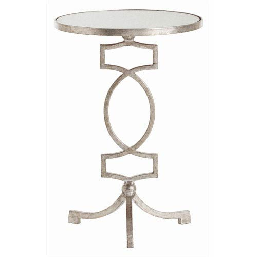 Arteriors Home Cooper Silver Leaf Iron and Mirror Accent Table