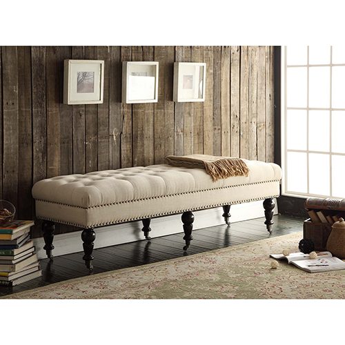 Isabelle White 62-Inch Bench